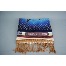 LOUIS VUITTON SCARF SHAWL PREOWNED MAP DESIGN SAL