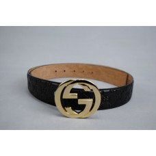 GUCCI INTERLOCKING GG BUCKLE KEMER %100 HAKIKI DERI