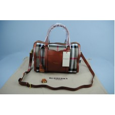 BURBERRY MARKA MEDIUM SARTORIAL HOUSE CHECK BOWLING BAG TABA