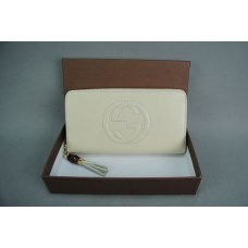 GUCCI SOHO LEATHER ZIP AROUND %100 HAKIKI DERI