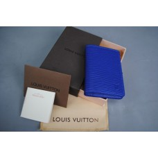 LOUIS VUITTON EPİ POCKET ORGANİSER HAKIKI DERI MAVİ