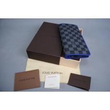 LOUIS VUITTON BRAZZA WALLET HAKIKI DERI MAVİ
