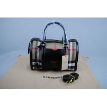 BURBERRY MARKA MEDIUM SARTORIAL HOUSE CHECK BOWLING BAG SIYAH