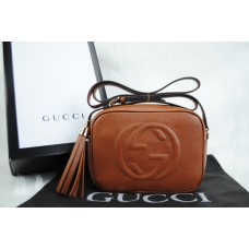 GUCCI SOHO DISCO BAG %HAKIKI DERI TABA