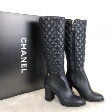 Chanel Quilted High Boots Heel